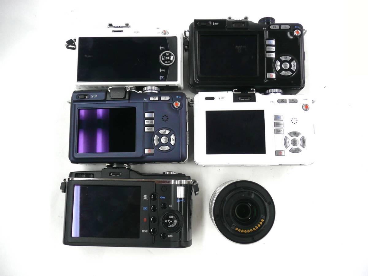 【ジャンク カメラ】 OLYMPUS PEN E-PL1/PL-1s/E-P2 PENMini E-PM1 ボディ5台 M.ZUIKO 14-42mm 3.5-5.6 計6点セット オリンパス (J1403M)_画像2