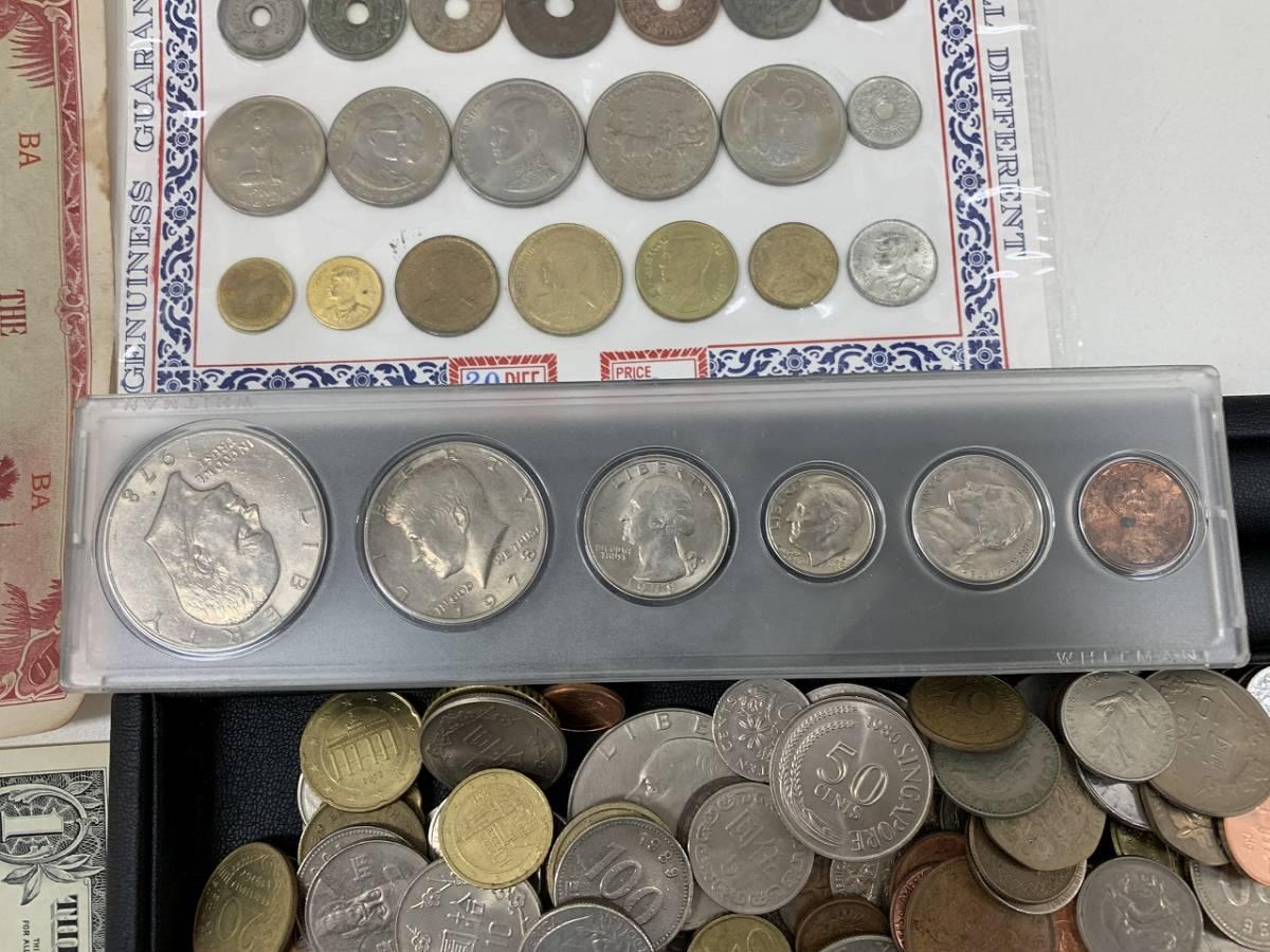 4850A★大量!! 外国銭 硬貨 コイン 紙幣 約1.8Kg 未選別★_画像4