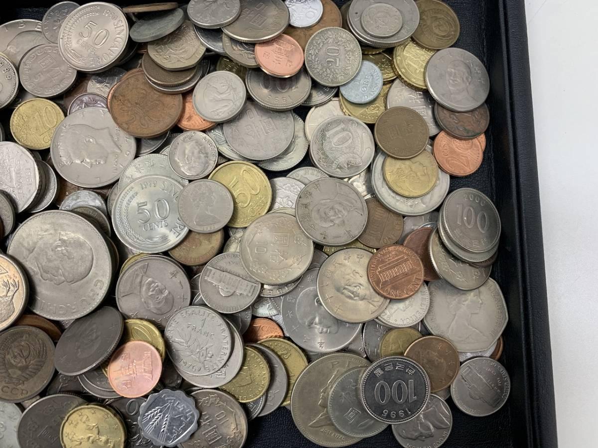 4850A★大量!! 外国銭 硬貨 コイン 紙幣 約1.8Kg 未選別★_画像2