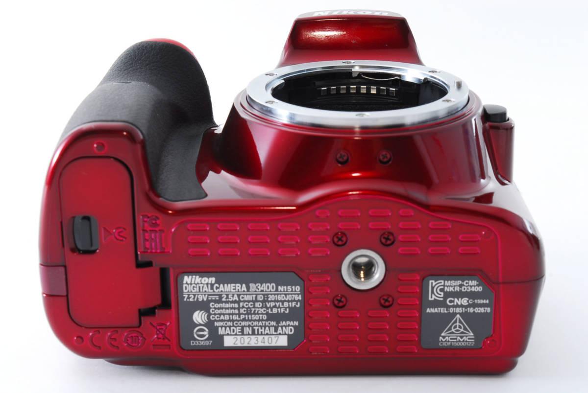 Nikon ニコン D3400 ボディ RED レッド ★超美品★ #467_画像8