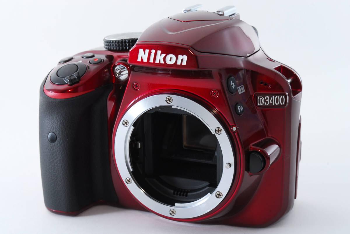 Nikon ニコン D3400 ボディ RED レッド ★超美品★ #467_画像2