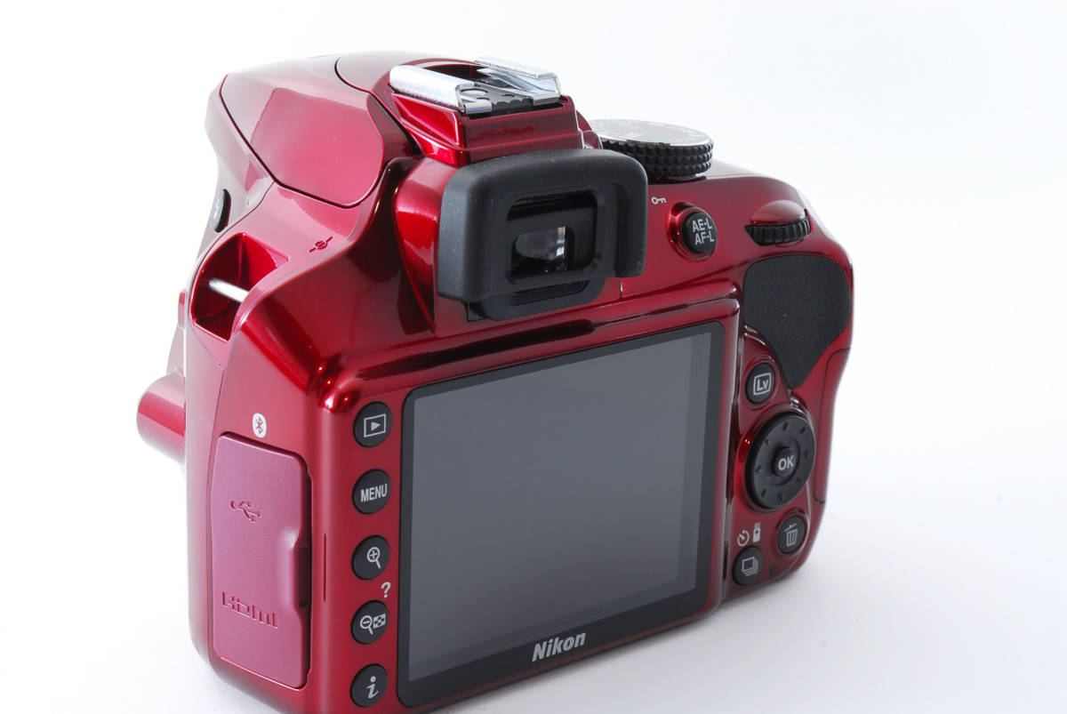 Nikon ニコン D3400 ボディ RED レッド ★超美品★ #467_画像7