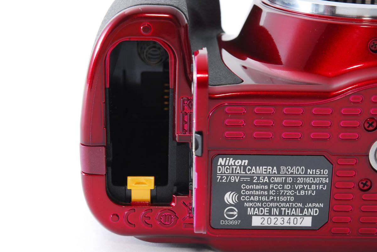 Nikon ニコン D3400 ボディ RED レッド ★超美品★ #467_画像9