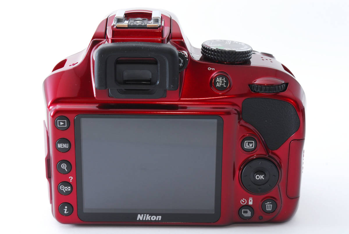 Nikon ニコン D3400 ボディ RED レッド ★超美品★ #467_画像5