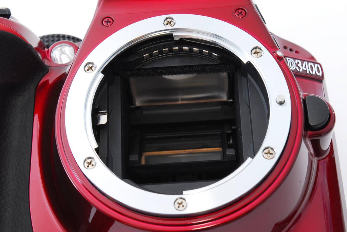 Nikon ニコン D3400 ボディ RED レッド ★超美品★ #467_画像10