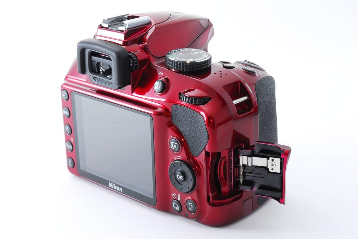 Nikon ニコン D3400 ボディ RED レッド ★超美品★ #467_画像6