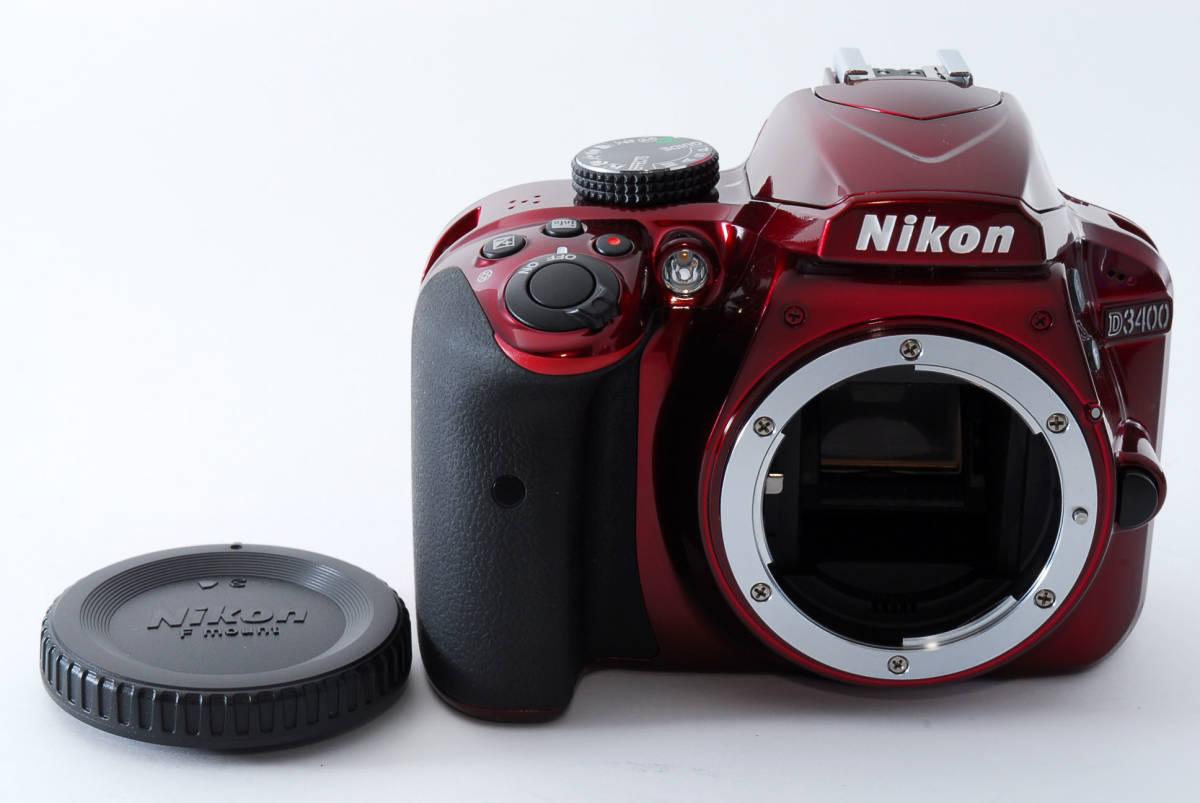 Nikon ニコン D3400 ボディ RED レッド ★超美品★ #467