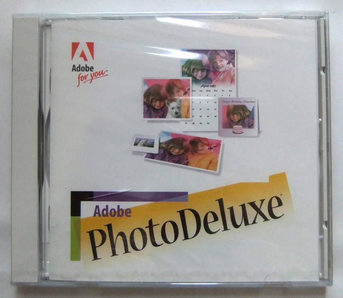 ジャンク!未開封!Adobe PhotoDeluxe、漢字Talk7、7.1、7.5、Windows3.1、95対応