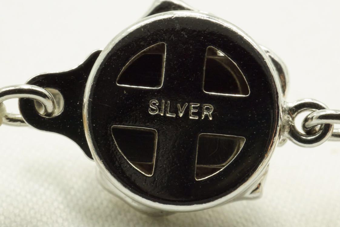 C67 本真珠 パール ソーティング付き ヴィンテージ ネックレス アクセサリー SILVER刻印 アンティーク 装飾品 ペンダント 全長102cm_画像6