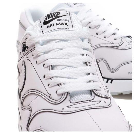 NIKE AIR MAX 1 SKETCH TO SHELF WHITE/WHITE-BLACK 19FA-S_画像8
