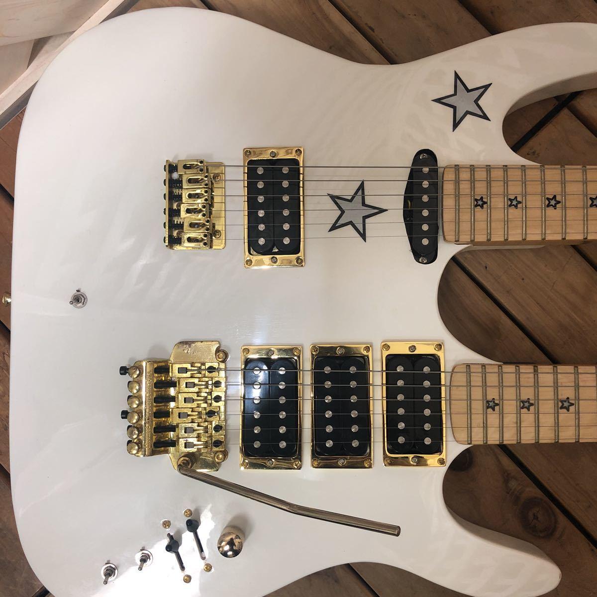 XM☆希少 KRAMER Richie sambora/Bon Jovi signature 激レア ダブルネック エレキギター リッチー・サンボラ モデル FLOYD ROSE搭載 美品