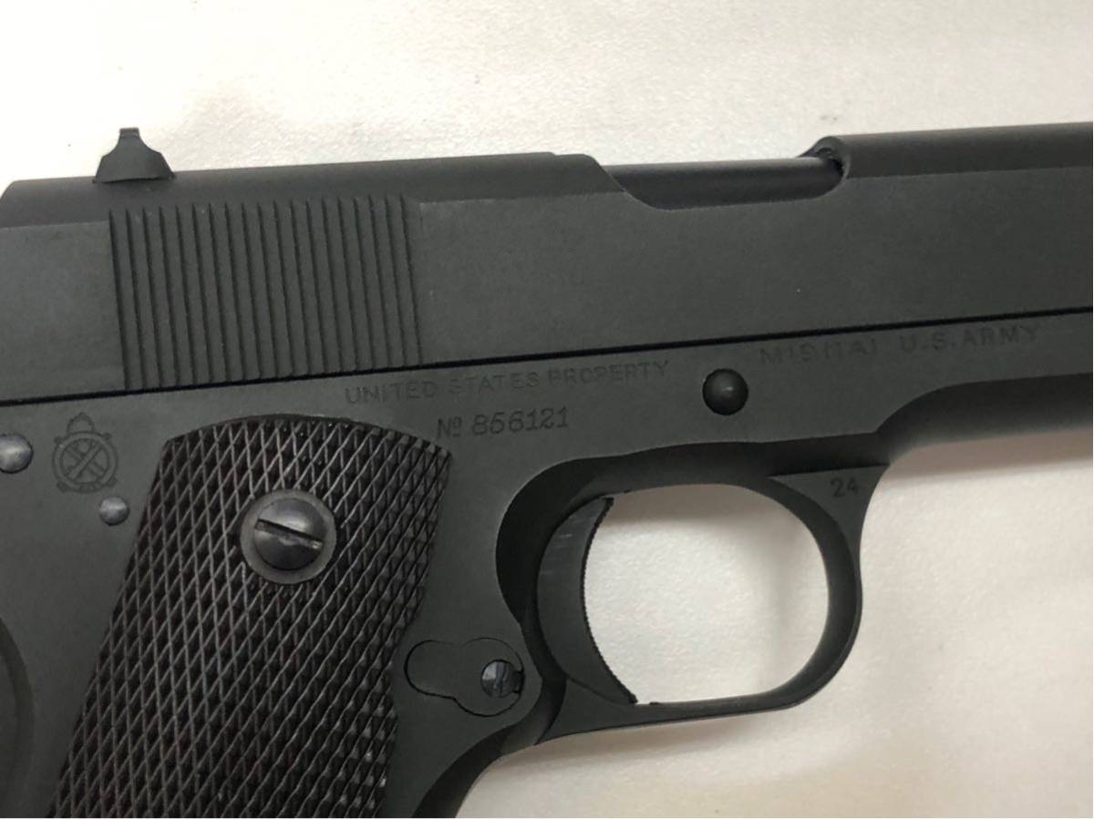 (X/O) THE REAL McCOY'S / VICTORY COLT Automatic Pistol / M1911A1 / 六研 / エラン販売 / リアルマッコイズ M1911 モデルガン _画像5