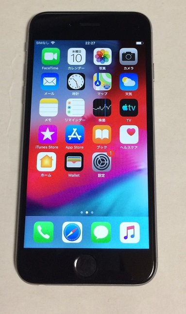 iPhone6 64GB docomo スペースグレイ バッテリー88%  送185円