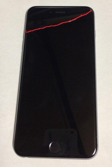 iPhone6 Plus 64GB docomo スペースグレイ バッテリー100%  送185円 _画像2