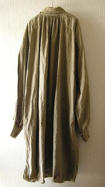 フランスビンテージアンティーク〇後染めリネンワーキングスモックシャツ〇1910's1920's_画像2