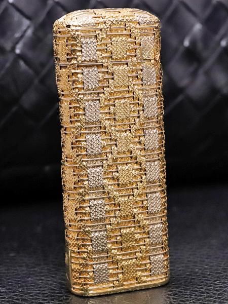 伝説の英国最高峰メゾン ロイキング 金無垢 K18スリーカラーゴールド バケットメッシュライター 喫煙具 750 YG PG WG ROYKING 本物_画像2