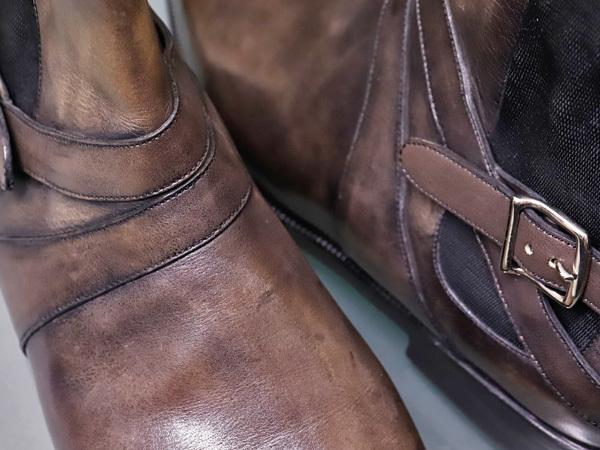 新品 ベルルッティ 特注品 JODPHUR ヴェネチアレザー サイドゴア ジョッパーブーツ 紳士革靴 シューズ キーパー シューバッグ付 本物 正規_画像4