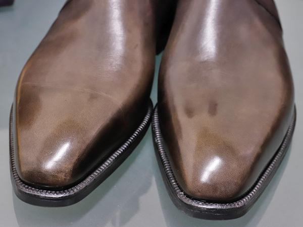 新品 ベルルッティ 特注品 JODPHUR ヴェネチアレザー サイドゴア ジョッパーブーツ 紳士革靴 シューズ キーパー シューバッグ付 本物 正規_画像6