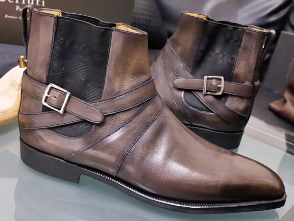 新品 ベルルッティ 特注品 JODPHUR ヴェネチアレザー サイドゴア ジョッパーブーツ 紳士革靴 シューズ キーパー シューバッグ付 本物 正規_画像3
