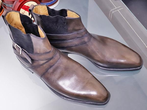 新品 ベルルッティ 特注品 JODPHUR ヴェネチアレザー サイドゴア ジョッパーブーツ 紳士革靴 シューズ キーパー シューバッグ付 本物 正規_画像8