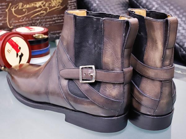 新品 ベルルッティ 特注品 JODPHUR ヴェネチアレザー サイドゴア ジョッパーブーツ 紳士革靴 シューズ キーパー シューバッグ付 本物 正規_画像7