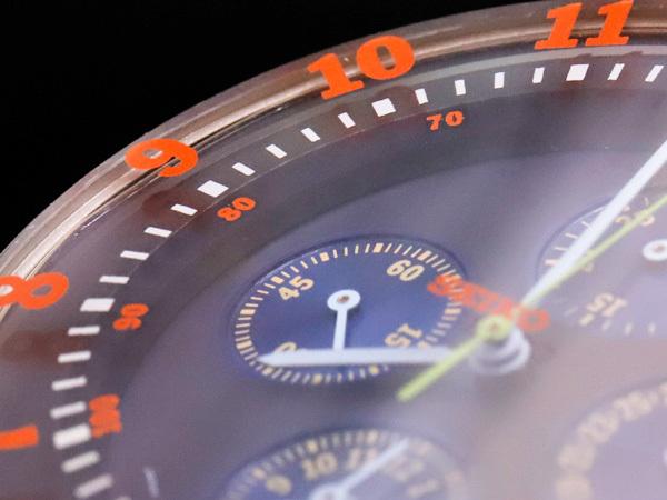 セイコー 極希少 当時物 元祖 ソットサス1 クロノグラフ メンズウォッチ 紳士腕時計 クロノ 純正ベルト尾錠 SEIKO SOTTSASS 本物 正規 _画像4