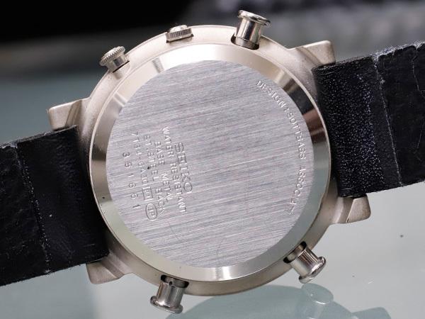 セイコー 極希少 当時物 元祖 ソットサス1 クロノグラフ メンズウォッチ 紳士腕時計 クロノ 純正ベルト尾錠 SEIKO SOTTSASS 本物 正規 _画像8