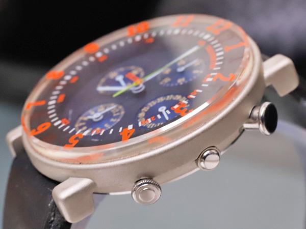 セイコー 極希少 当時物 元祖 ソットサス1 クロノグラフ メンズウォッチ 紳士腕時計 クロノ 純正ベルト尾錠 SEIKO SOTTSASS 本物 正規 _画像5