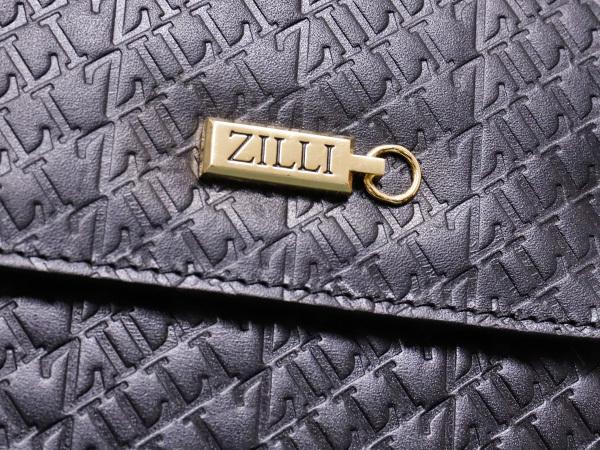 超美品 ジリー 最高級エンボスドレザーWコンパートメントメンズ書類ビジネスバッグ 黒 ブラック 仕事鞄 ブリーフケース ZILLI 本物 正規_画像5