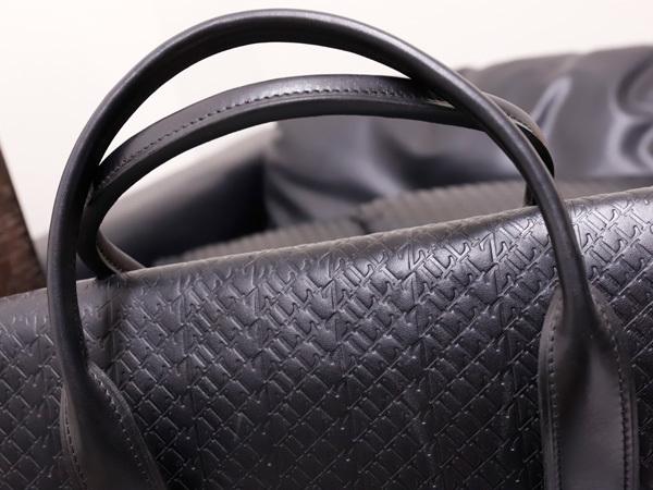 超美品 ジリー 最高級エンボスドレザーWコンパートメントメンズ書類ビジネスバッグ 黒 ブラック 仕事鞄 ブリーフケース ZILLI 本物 正規_画像4