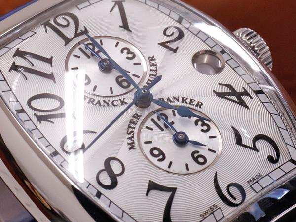 極上品 フランクミュラー 6850 ビッグサイズ トノウカーベックス マスターバンカー メンズウォッチ 紳士自動巻腕時計 純正クロコ尾錠 本物