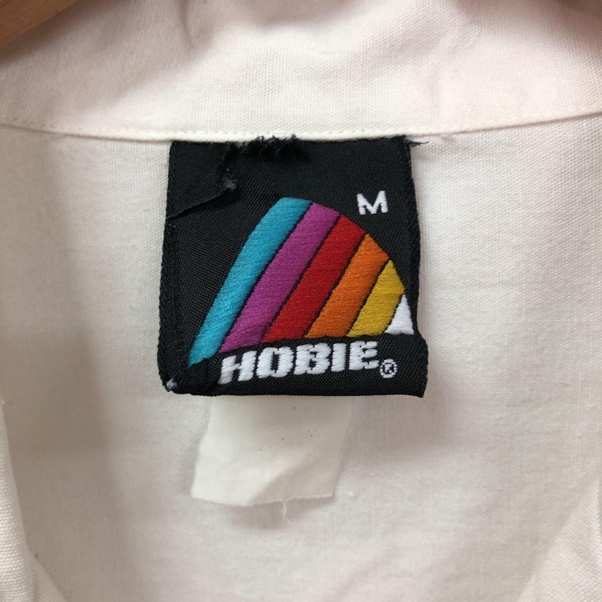 80sホビーコットンアロハシャツMサイズウィンドサーフィン半袖シャツ開襟オープンカラーボックスタイプオールドサーフハンテンビラボン_画像3