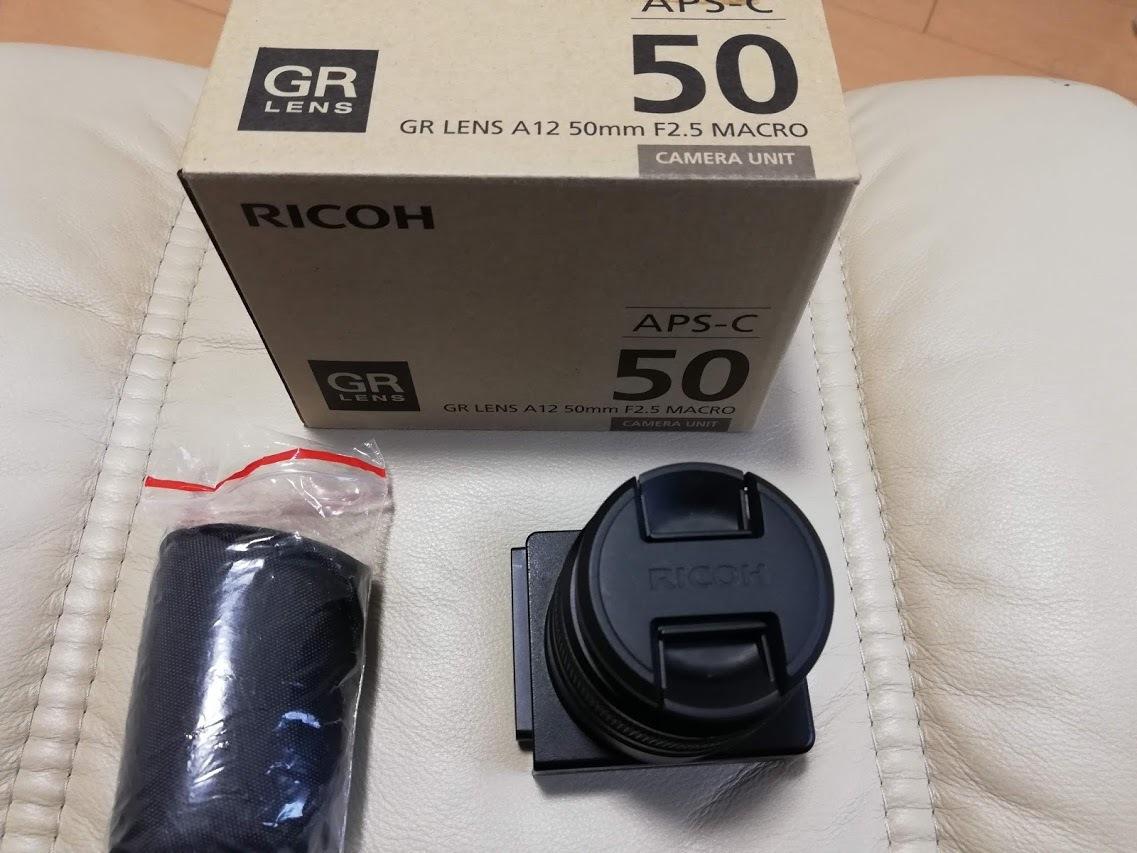 美品 RICOH GXR用カメラユニット GR LENS A12 50mm F2.5 MACRO