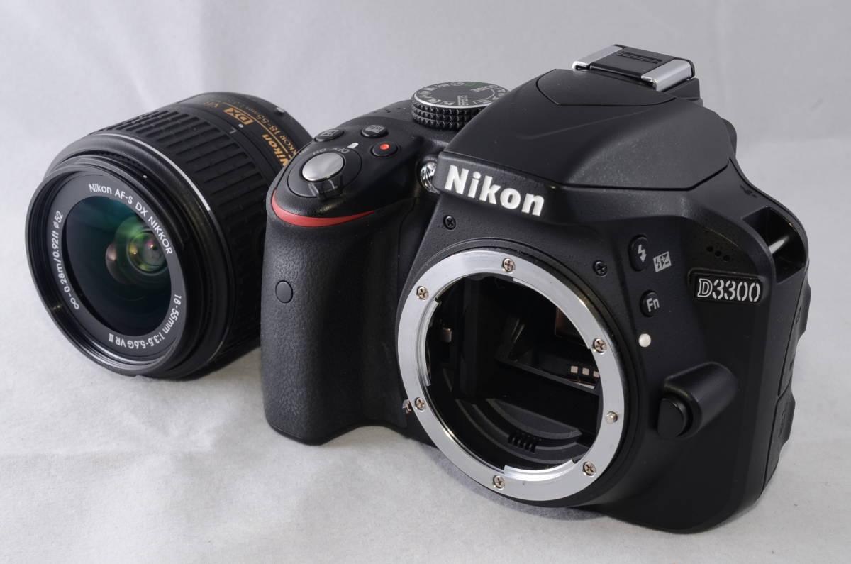 【新品同様品】ニコン Nikon D3300 18-55mm VR II 純正レンズキット★ショット数1412回★届いたらすぐに使える初心者おすすめ得々パック♪_画像2