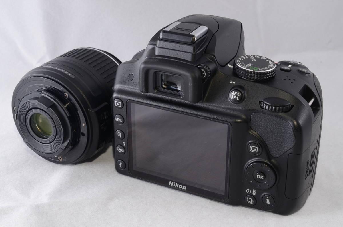 【新品同様品】ニコン Nikon D3300 18-55mm VR II 純正レンズキット★ショット数1412回★届いたらすぐに使える初心者おすすめ得々パック♪_画像3