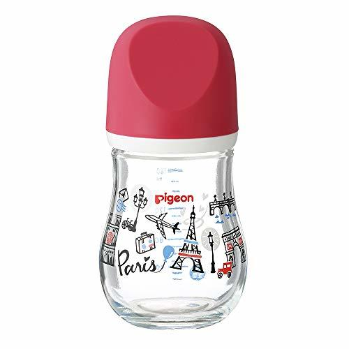 哺乳びん 哺乳瓶 耐熱ガラス製 パリ 160ml 0ヶ月から おっぱい育児を確実にサポートレッド 赤_画像8