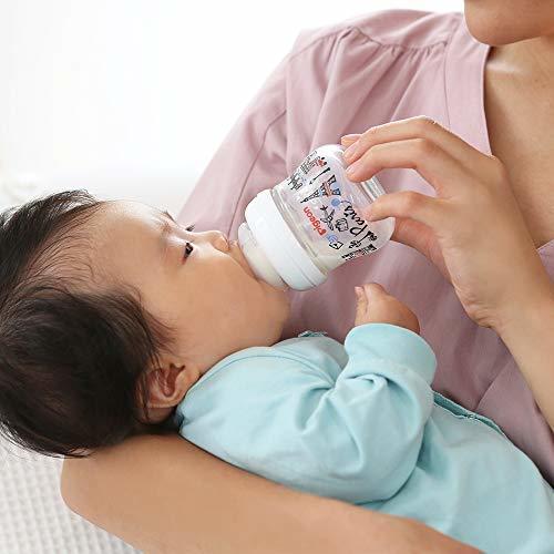 哺乳びん 哺乳瓶 耐熱ガラス製 パリ 160ml 0ヶ月から おっぱい育児を確実にサポートレッド 赤_画像5
