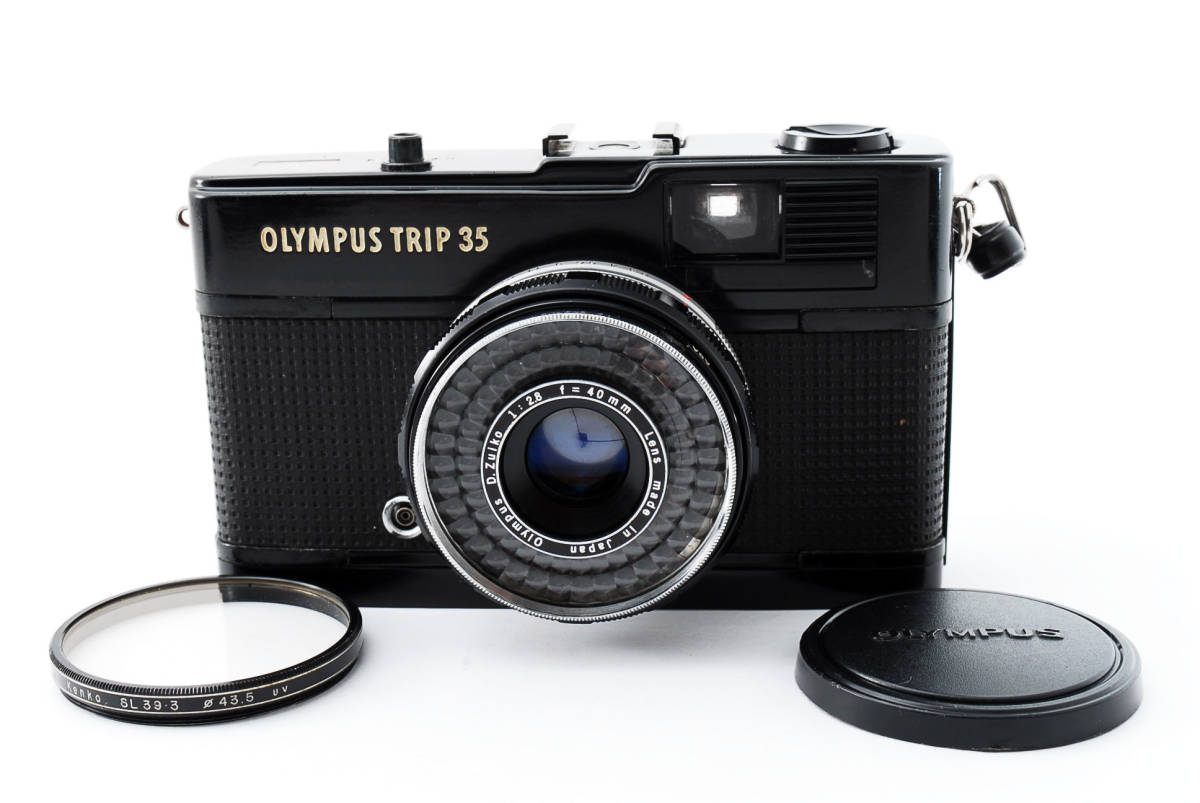 レア!ブラック ■ 即決・値下交渉あり ■ Olympus オリンパス Trip 35 D.Zuiko 40mm F2.8 フィルムカメラ ■ 2083