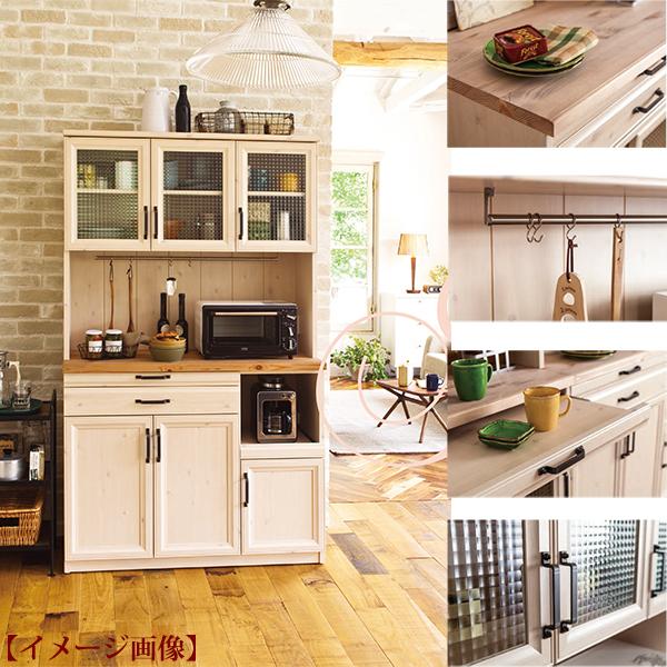 展示品 アメリカンカントリー食器棚 キッチンボードW105 自然塗料 ユーアイNEO マーチ March 天然パイン材 カービーパイン 日本製 完成品_画像2