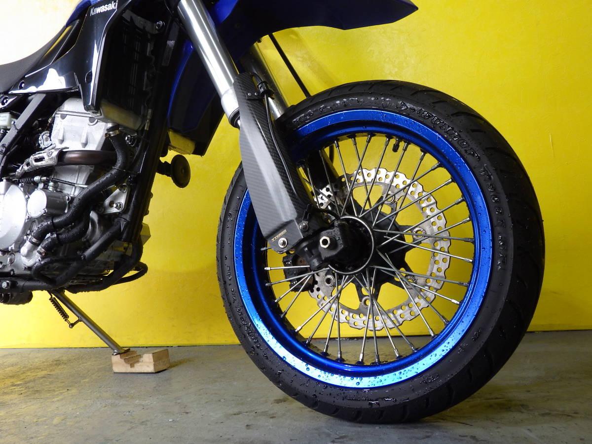 「ばいく屋いちばん カワサキ Kawasaki DトラッカーX Dトラ LX250V モタード 低走行5392km 動画あります! ローンOK」の画像2