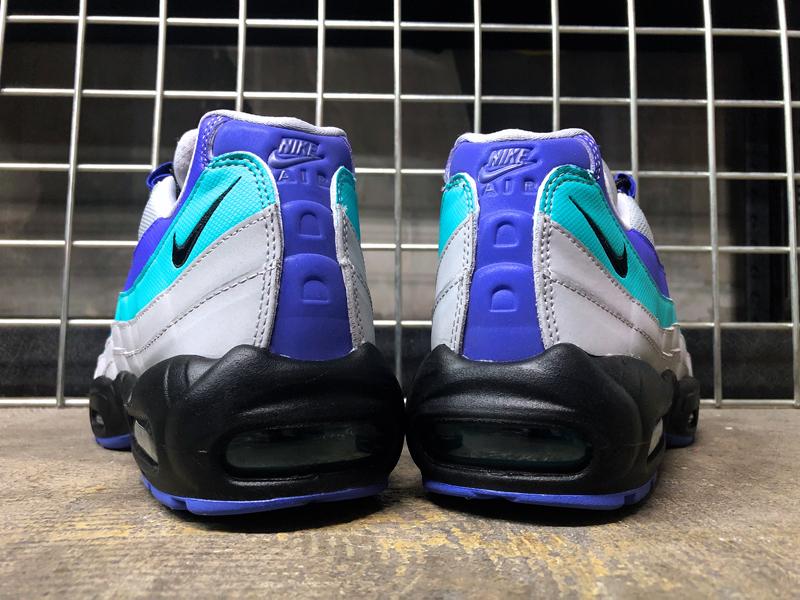 USA購入 Nike Air Max 95 OG WolfGrey ナイキ エアマックス 95 OG ウルフグレー/インディゴ バースト/ハイパー ジェイド US6 JP24cm_画像6