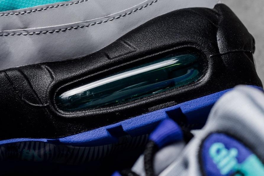 USA購入 Nike Air Max 95 OG WolfGrey ナイキ エアマックス 95 OG ウルフグレー/インディゴ バースト/ハイパー ジェイド US6 JP24cm_画像3