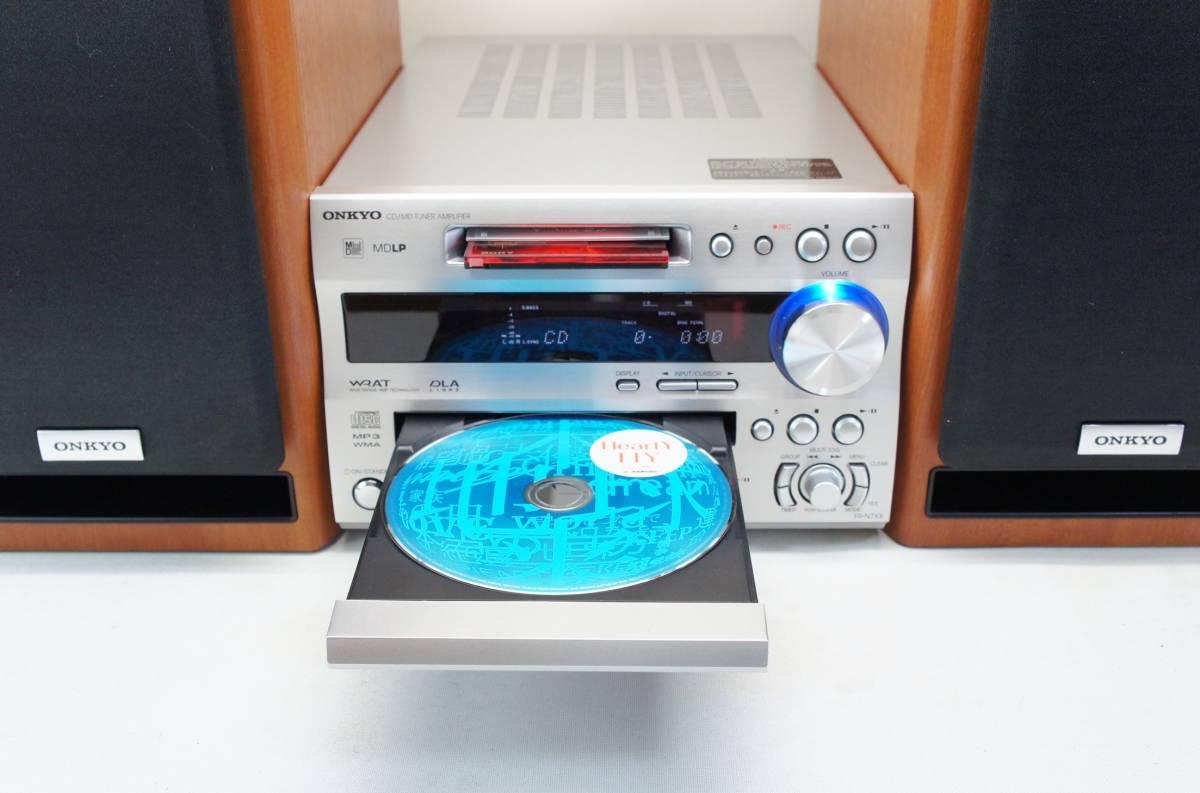 ONKYO USB端子付 X-N7XX CD/MD チューナーアンプ _画像2