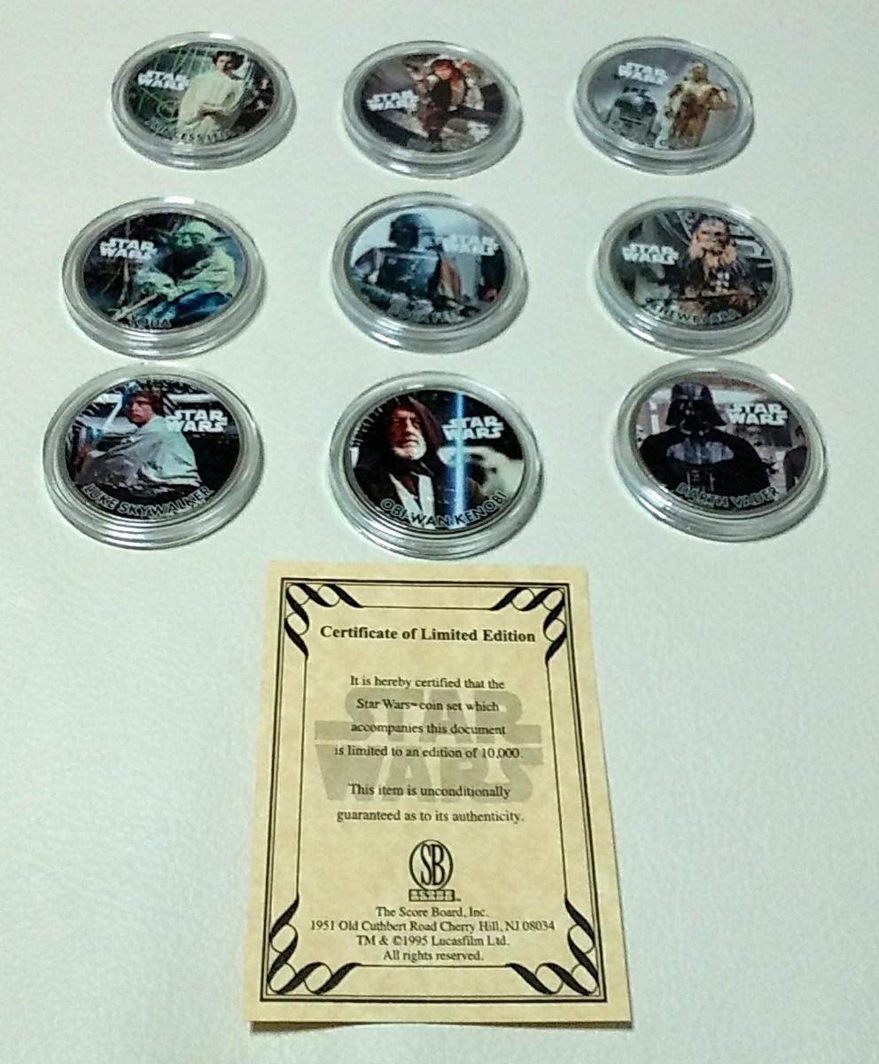 1円スタート!スターウォーズファン必見!Star Warsの1977年IKE1$9枚セット、ルーカスフィルム公認COA。本物のアメリカ法定通貨_画像6