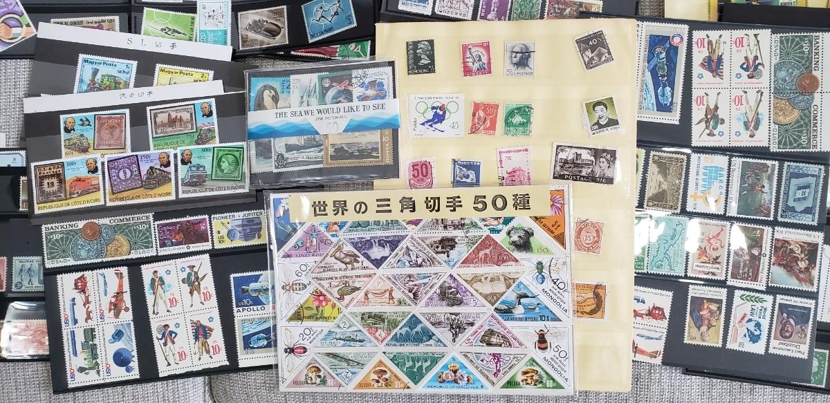 【1円~大量!!バラ切手500枚以上】外国切手 使用済み&未使用切手 まとめて大量セット  バラ 色々 海外切手 _画像4