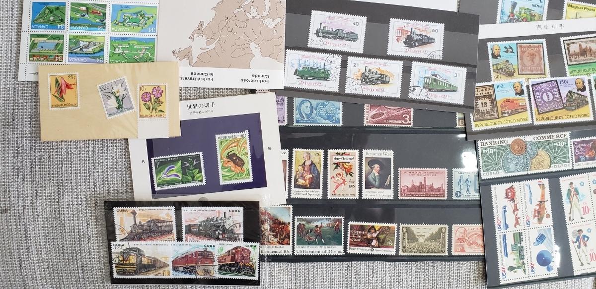 【1円~大量!!バラ切手500枚以上】外国切手 使用済み&未使用切手 まとめて大量セット  バラ 色々 海外切手 _画像6