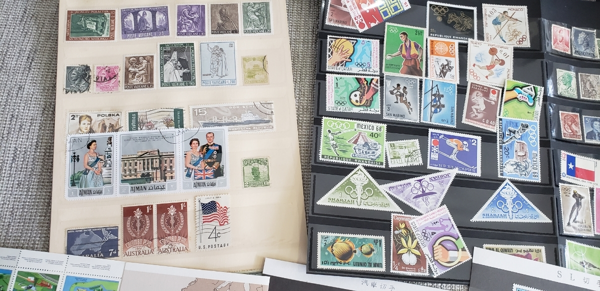 【1円~大量!!バラ切手500枚以上】外国切手 使用済み&未使用切手 まとめて大量セット  バラ 色々 海外切手 _画像7