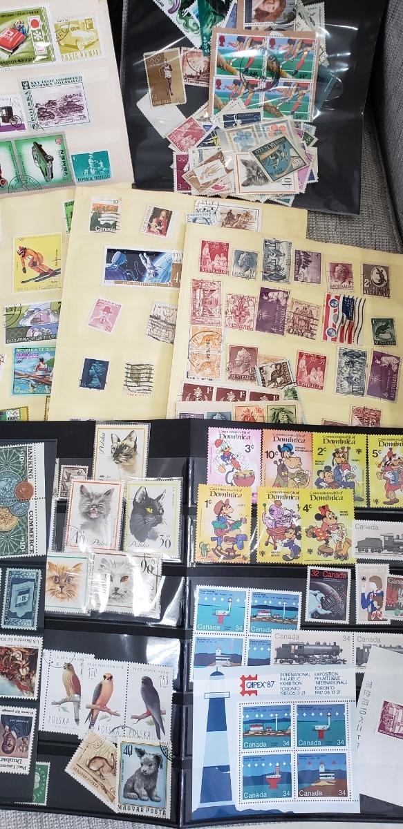 【1円~大量!!バラ切手500枚以上】外国切手 使用済み&未使用切手 まとめて大量セット  バラ 色々 海外切手 _画像2
