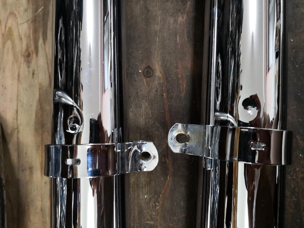 ソフテイルエボ(95-06) サムソン独立管とフィッシュテールマフラー 中古美品_画像9