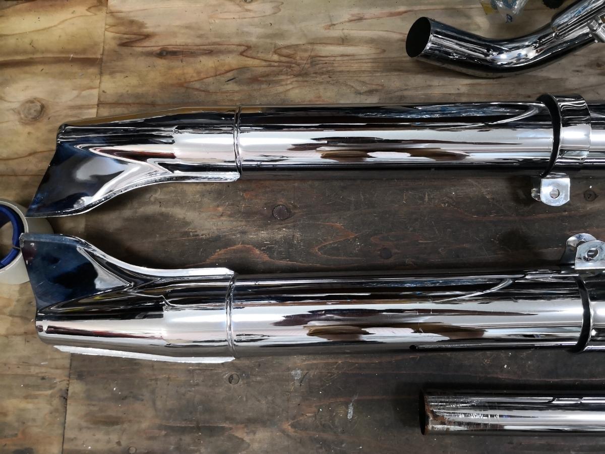 ソフテイルエボ(95-06) サムソン独立管とフィッシュテールマフラー 中古美品_画像4